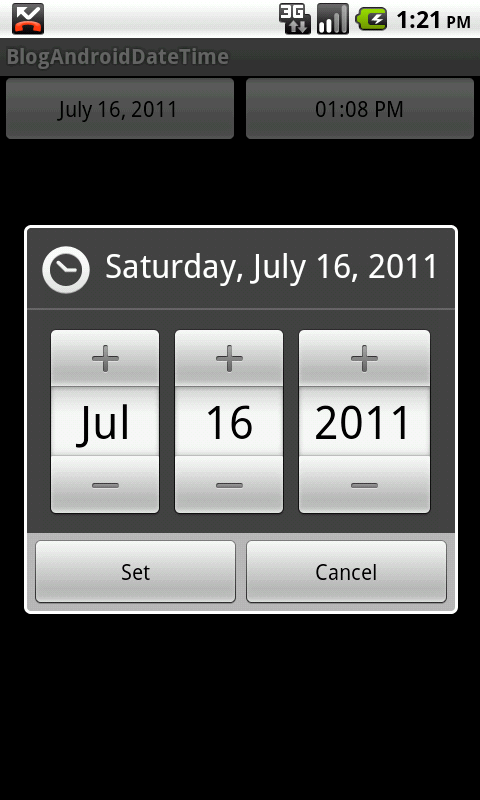 Vexed Logic!? - Android » Blog Archive » Android Date Time